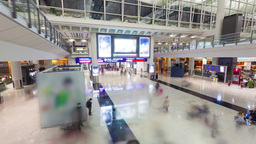 4k hyperlapse video of commuters in an airport Stock Video Footage