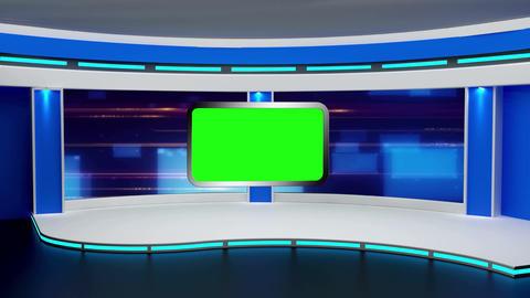 Education TV Studio Set 02 - Virtual Background Loop Stock Video Footage