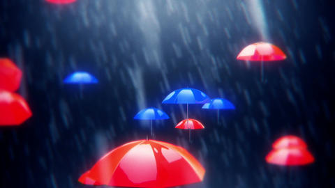 Umbrella Falling stock footage
