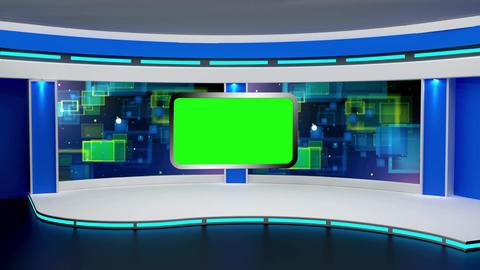 Education TV Studio Set 01 - Virtual Background Loop Footage