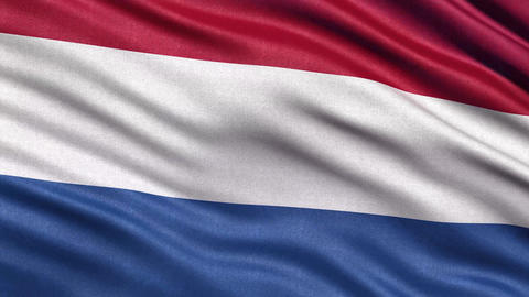 4K Flag of the Netherlands seamless loop Ultra HD Animation
