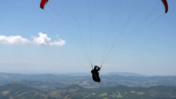 Slow Motion Paragliding Flight Silhouette Footage