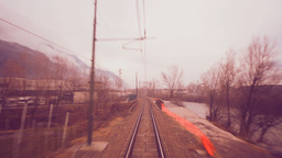 Speed Motion Train Landscape Italian Landscape stock footage