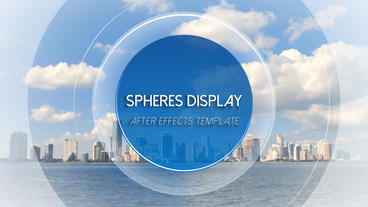 Spheres Display Loop - After Effects Template After Effects Template