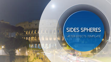 Side Spheres Loop - After Effects Template After Effects Template