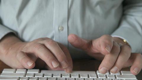 man using keyboard on lap Footage