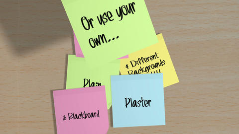 Sticky Note Notice Board After Effects Template