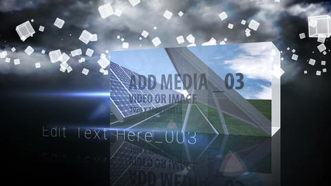 Falling Media Cubes After Effects Template
