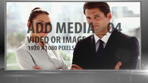 Business woman pushing media After Effects Template