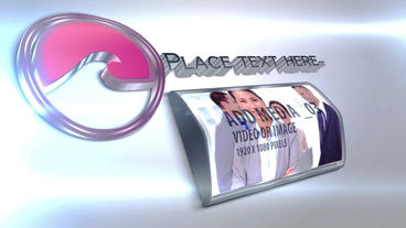 3d Curved Media With Text After Effects Template