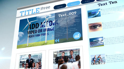 Web Style Media Display After Effects Template