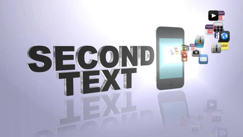 3ds Text and Flying Icons After Effects Template