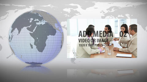 Globe And Map animation After Effects Template