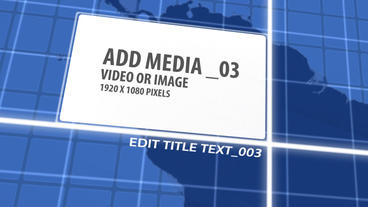 International Media Target Map AE After Effects Template