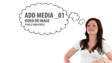 Media Thought Bubbles (3) After Effects Template