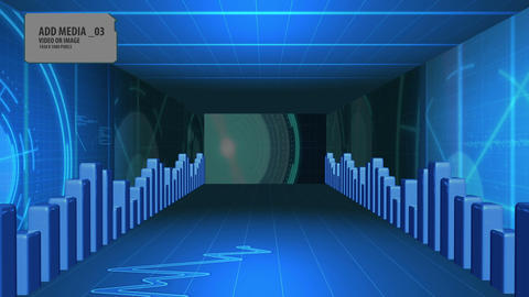 Blue Digital Tunnel Animation After Effects Template