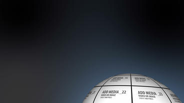 Sphere Zoom Turning On Itself AE stock footage