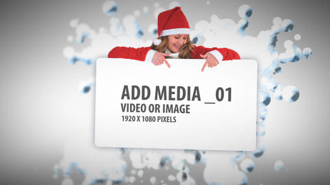 Christmas Snow ball Media Sequence After Effects Template