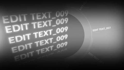 Text credit going through the screen After Effectsテンプレート