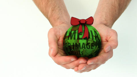 Green Christmas Ball After Effects Template