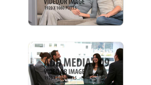 Browsing Media Vertical (white) After Effects Template