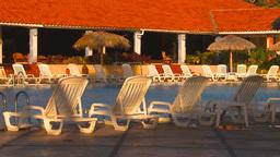 HD2009-4-9-3 resort pool Stock Video Footage