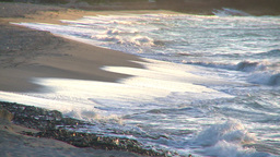 HD2009-4-9-11b sunset beach and surf Stock Video Footage