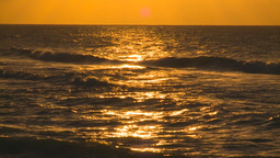 HD2009-4-9-13 sunset surf Stock Video Footage