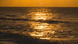 HD2009-4-9-13 sunset surf Stock Video Footage