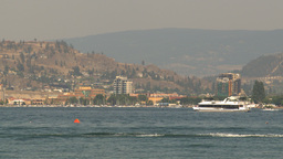 HD2009-8-1-6 Kelowna skyline and lake x2 Footage