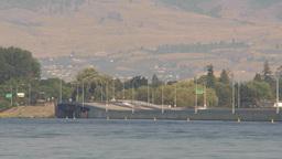 HD2009-8-1-10 Kelowna traffic on big bridge TL Stock Video Footage
