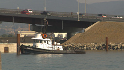 HD2009-8-1-12 Kelowna traffic on big bridge Stock Video Footage