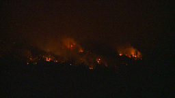 HD2009-8-1-16 forest fire smoke night Stock Video Footage