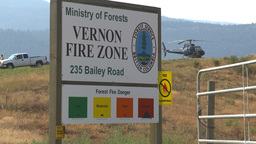 HD2009-8-1-22fire base fire sign helo Stock Video Footage