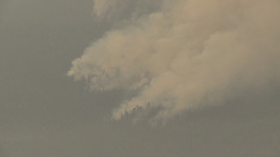 HD2009-8-1b-3cc forest fire from across lake z Stock Video Footage