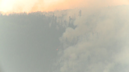 HD2009-8-1b-11 forest fire from across lake Stock Video Footage