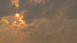 HD2009-8-1b-23 forest fire smoke and haze sun Stock Video Footage