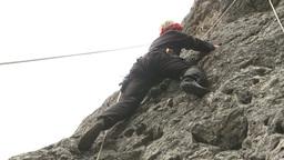HD2009-8-2-2 rockclimbing Stock Video Footage