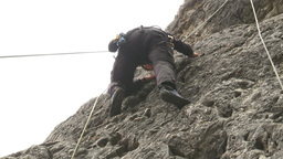 HD2009-8-2-2 rockclimbing Stock Video Footage