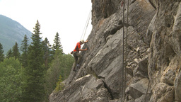 HD2009-8-3-1 rock climbing Stock Video Footage