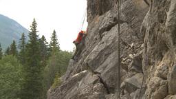 HD2009-8-3-1 rock climbing Stock Video Footage