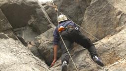 HD2009-8-3-3 rock climbing Stock Video Footage