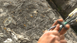 HD2009-8-4-6 rock climbing demoing cam Stock Video Footage