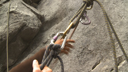HD2009-8-4-8 rock climbing ropes Footage