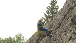 HD2009-8-4-10 rock climbing abseil Footage