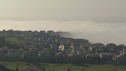 HD2009-8-5-4 fog and homes Stock Video Footage