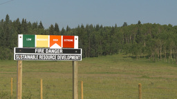 HD2009-8-5-6 fire danger sign high Stock Video Footage