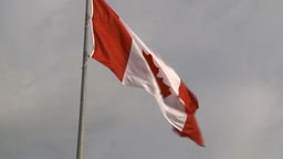 HD2009-8-5-10 Canada flag Stock Video Footage