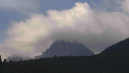 HD2009-8-5-12 clouds over mountains TL Stock Video Footage