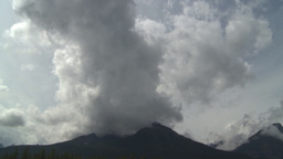 HD2009-8-8-3 clouds and mtn like volcano TL Stock Video Footage